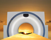 CT scan -  new day of diagnostic radiology. Royalty Free Stock Images