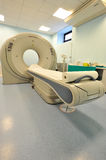 CT scanner 03. Computeer Tomography Scanner in empty room in hospital Royalty Free Stock Image