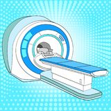 CT scanner computerized tomography scanner , MRI magnetic resonance imaging machine, medical equipment. Pop art vector. Illustration, color Royalty Free Stock Photos