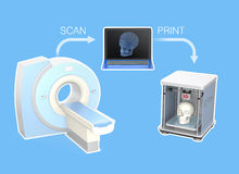 CT scanner and 3D printer for tissue engineering concept Royalty Free Stock Photography