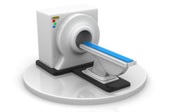 CT Scanner. 3d render of CT Scanner Royalty Free Stock Photography