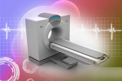 CT Scanner Tomography. In color background Royalty Free Stock Image