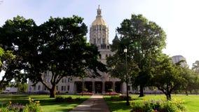 CT van Hartford het Capitool van de Staat van CT de Bouw stock video