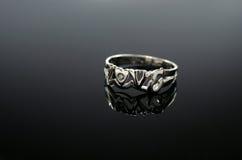 18 Ct WG Diamond Ring Royalty-vrije Stock Fotografie