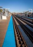 CTA train tracks Stock Photo
