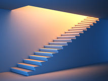 Ctair to the future. 3D illustration of a stair to the future Stock Image