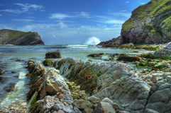 Côte de Dorset, Angleterre. Photos libres de droits