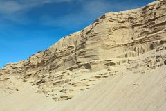 Côte de sable de désert Images stock