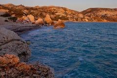 Côtes Chypre d'Aphrodite Photographie stock