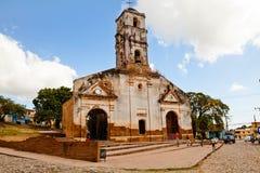 Cthe ruins of the church of Santa Ana, Trinidad, Cuba Royalty Free Stock Photos