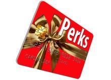 CThis кредитная карточка праздника тематическая которая предлагает добавления и вознаграждения стоковые фото