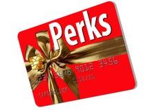 CThis кредитная карточка праздника тематическая которая предлагает добавления и вознаграждения стоковое изображение rf