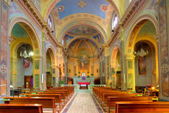 Ctholic church interior view. Royalty Free Stock Photos