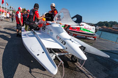 CTIC China Team boat preparations Stock Images
