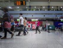 Ctivity na entrada do registro do aeroporto internacional de Bangoy Davao Fotos de Stock Royalty Free