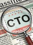CTO Job Vacancy. 3D. Stock Photography