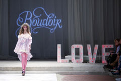 CTOC Porter Fashion Show: Boudoir, Zagreb, Croácia Imagem de Stock Royalty Free