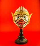 Ctor`s mask in Thailand on red background. Ctor`s mask in Thailand red background Royalty Free Stock Photography