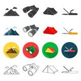 Tourism, nature, recreation and other web icon in different style.attributes, travel, hike icons in set collection. Royalty Free Stock Image