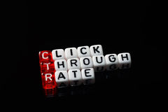 CTR Click Trough Rate black Royalty Free Stock Image