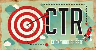CTR-Concept. Affiche in Vlak Ontwerp. royalty-vrije illustratie