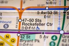 47-50 CTR van Sts Rockefeller New York, Verenigde Staten Stock Foto's