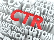 CTR. The Wordcloud Concept. Royalty Free Stock Photography