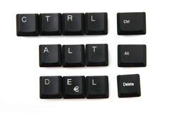 Ctrl + alt + borttagnings från keyboar tangenter arkivfoto