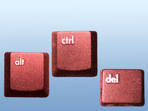 Ctrl-Alt-Del. Alt,Ctrl, and Del keys of a computer keyboard vector illustration