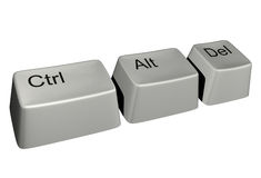 Ctrl-alt-del. Only three keys but very essential from computers royalty free illustration