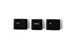 Ctrl alt del keyboard keys Stock Images