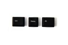 Ctrl alt del keyboard keys Stock Images