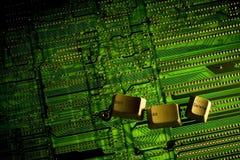Ctrl Alt Delete. Keys placed on a backlight circuit board Stock Image