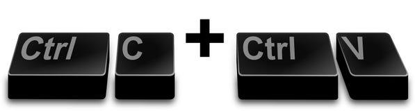 CTRL c + CTRL V (exemplaar en deeg) Royalty-vrije Stock Foto