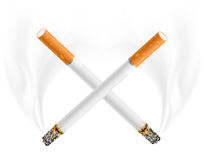 Ctross des cigarettes - danger de concept de fumage illustration libre de droits