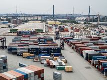 CTT Container Terminal Tollerort royalty free stock images