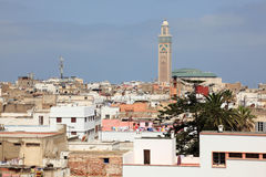 Cty of Casablanca, Morocco. View over the old city of Casablanca, Morocco, North Africa Stock Images
