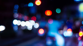 Cty night light bokeh. And light blurred background stock photos