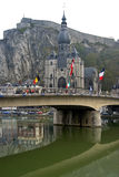 Cty view of the small town Dinant, Belgium Stock Images