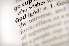 Cuál es dios Imagen de archivo libre de regalías