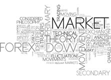 Cuál es Dow Theory Word Cloud ilustración del vector