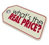 Cuál es la inversión real del costo del coste del precio Imagen de archivo libre de regalías