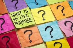 Cuál es mi pregunta del propósito de la vida Fotografía de archivo