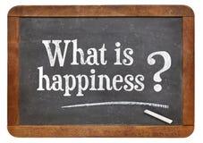 Cuál es pregunta de la felicidad Fotografía de archivo libre de regalías