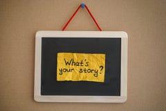 Cuál es su historia fotografía de archivo libre de regalías