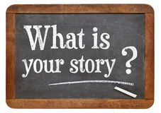 Cuál es su pregunta de la historia imagen de archivo libre de regalías