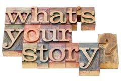 Cuál es su pregunta de la historia foto de archivo