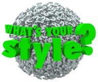Cuál es su pregunta Mark Unique Look Skills Fashion del estilo Foto de archivo libre de regalías