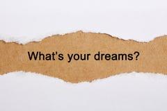 Cuál es sus sueños Fotos de archivo libres de regalías
