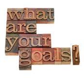 Cuáles son su pregunta de las metas Fotografía de archivo libre de regalías